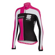 Sportful Women's Gruppetto Pro Thermal Long Sleeve Jersey - Black/White/Fuchsia