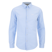 BOSS Green Men's C-Balsamo Small Logo Long Sleeve Shirt - Sky