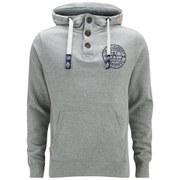 Tokyo Laundry Men's Button Hoody - Light Grey Marl