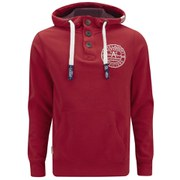 Tokyo Laundry Men's Button Hoody - Tokyo Red