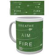 DC Comics Arrow Breathe Aim Fire - Mug