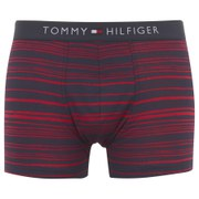 Tommy Hilfiger Men's Striped Trunk Boxer Shorts - Tango Red
