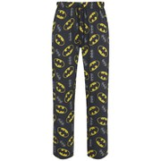 Batman Men's All Over Logo Lounge Pants - Black