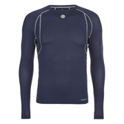 Skins Men's Carbonyte Long Sleeve Round Neck Baselayer - Navy