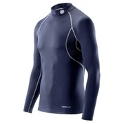 Skins Carbonyte Men's Thermal Long Sleeve Mock Neck Baselayer - Navy