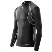 Skins Carbonyte Men's Long Sleeve Round Neck Baselayer - Black