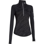 Under Armour Women's Fly Fast Luminous Long Sleeve 1/2 Zip Top - Black