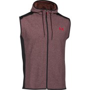 Under Armour Men's ColdGear Infrared Performance Fleece Vest Top - Deep Red/Black