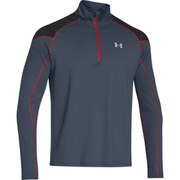 Under Armour Men's ColdGear Chrome Long Sleeve 1/2 Zip Top - Red/Reflective