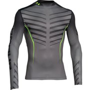 Under Armour Men's ColdGear Compression Mock Top - Grey/Black