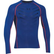 Under Armour Men's HeatGear Armour EXO Long Sleeve Compression Top - Royal Blue