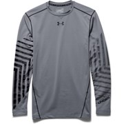 Under Armour Men's ColdGear Graphic Compression Long Sleeve Top - Steel
