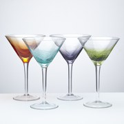 Anton Studio Designs Set of Four Fizz Martini Cocktail Glasses