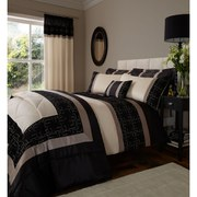 Catherine Lansfield Geo Embellished Duvet Cover - Black