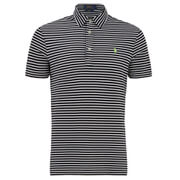 Polo Ralph Lauren Men's Striped Pique Polo Shirt - Black/White