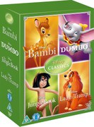 Disney Classics Timeless Classics 4 DVD Set 2 Jungle Book, Bambi, Dumbo, Lady & The Tramp