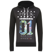 Hack Men's Vega Printed Hoody - Black