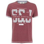 Smith & Jones Men's Parnholt Print T-Shirt - Maroon
