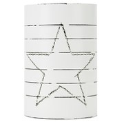 Nkuku Star Can Lantern - Large (18 x 12.5cm)