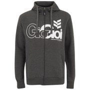 Gio-Goi Men's Lancer Zip Through Hoody - Charcoal Marl