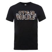 Star Wars Men's The Force Awakens Heroes Logo Pattern T-Shirt - Black