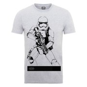 Star Wars Men's The Force Awakens Stormtrooper Ready To Attack T-Shirt - Heather Grey