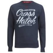 Crosshatch Men's Grabit Crew Neck Sweatshirt - Navy Marl