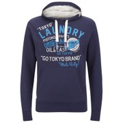 Tokyo Laundry Men's Redfield Printed Hoody - Eclipse Blue