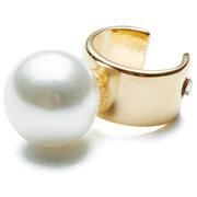 Maria Francesca Pepe Women's Orbital Pearl Thin Earcuff - Gold