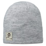 Buff Knitted and Polar Hat - Melange Grey
