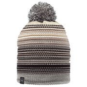 Buff Knitted and Polar Neper Hat - Grey