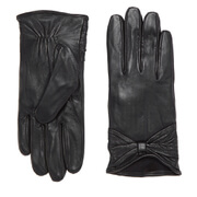 Vero Moda Women's Sofia Leather Gloves - Black