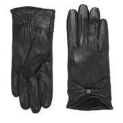Vero Moda Women's Sofia Leather Gloves - Black
