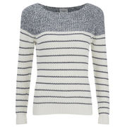 Vero Moda Women's Zoey Long Sleeve Blouse - Snow White/Ombre Blue