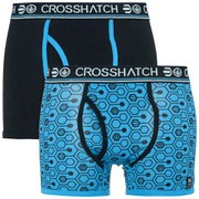 Crosshatch Men's Hexon 2 Pack Boxers - Malibu Blue