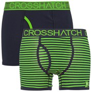 Crosshatch Men's GlowSync 2 Pack Boxers - Jasmine Green