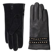 French Connection Women's Penny Leather Gloves - Black