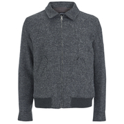 A.P.C. Men's Moto Zipped Jacket - Anthracite