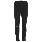 J Brand Women's Alana High Rise Photoready Cropped Jeans - Demented Black