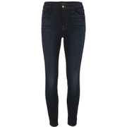 J Brand Women's Alana High Rise Blue Blend Cropped Jeans - Lawless