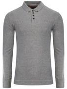 Tokyo Laundry Men's Lowell Long Sleeve Polo Shirt - Light Grey Marl