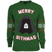 Star Wars Merry Sithmas Knitted Christmas Jumper - Green