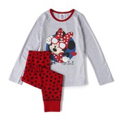 Minnie Mouse Girl's Long Sleeve Pyjamas - Grey/Red