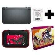 New Nintendo 3DS XL Metallic Black + Pokémon Omega Ruby Steelbook Pack