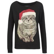 ONLY Women's Christmas Sweatshirt - Black