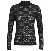 ONLY Women's Ara Lace Long Sleeve Top - Black