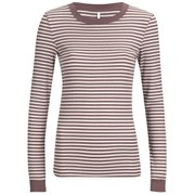 ONLY Women's Madion Long Sleeve Rib Top - Cloud Dancer/Mesa Rose