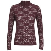ONLY Women's Ara Lace Long Sleeve Top - Windsor Wine