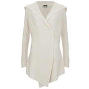 Cocoa Cashmere Women's Full Rib Cardigan - Cream