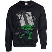 Marvel Comics Christmas Santa Hulk Sweatshirt - Black